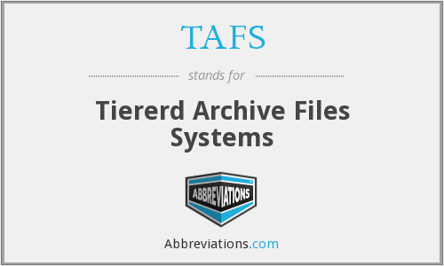 TAFS - Tiererd Archive Files Systems