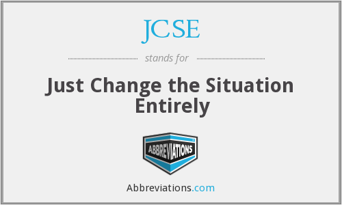 JCSE - Just Change the Situation Entirely