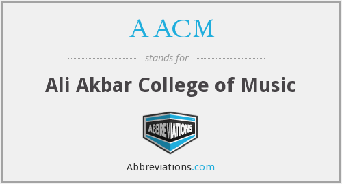 AACM - Ali Akbar College of Music