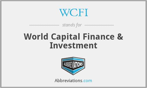 WCFI - World Capital Finance & Investment