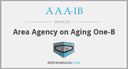 AAA-IB - Area Agency on Aging One-B