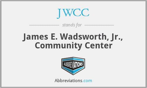JWCC - James E. Wadsworth, Jr., Community Center