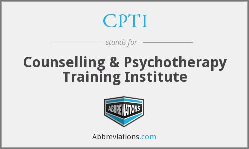 CPTI - Counselling & Psychotherapy Training Institute