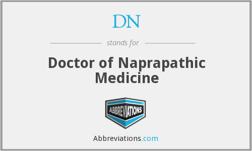 DN - Doctor of Naprapathic Medicine