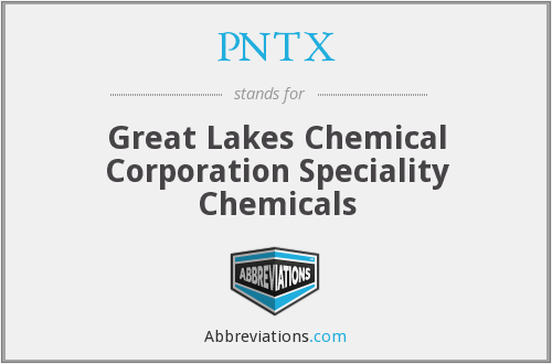PNTX - Great Lakes Chemical Corporation Speciality Chemicals