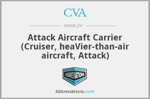 CVA - Attack Aircraft Carrier (Cruiser, heaVier-than-air aircraft, Attack)