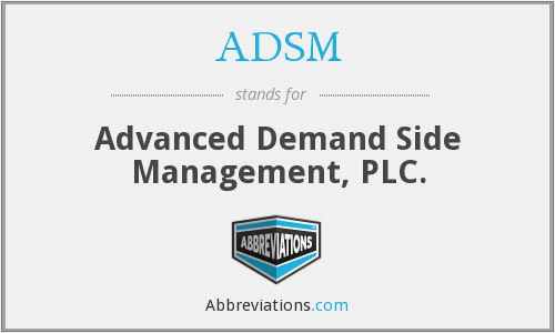 ADSM - Advanced Demand Side Management, PLC.