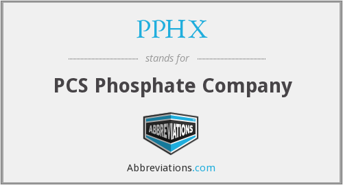What does PPHX stand for?