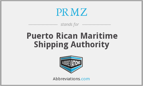 PRMZ - Puerto Rican Maritime Shipping Authority