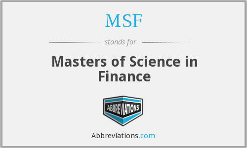 MSF - Masters of Science in Finance