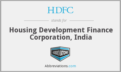 What does HDFC stand for?