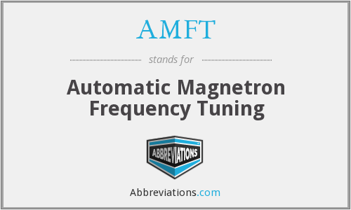 AMFT - Automatic Magnetron Frequency Tuning