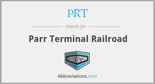 PRT - Parr Terminal Railroad