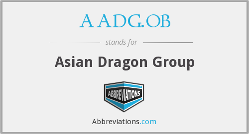 What does AADG.OB stand for?