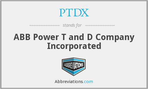 What does PTDX stand for?
