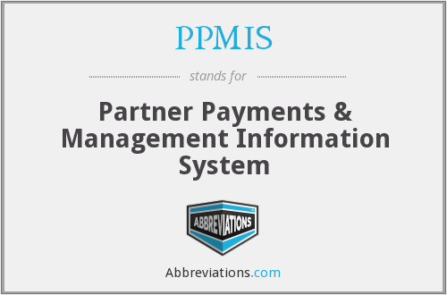 PPMIS - Partner Payments & Management Information System