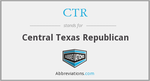 CTR - Central Texas Republican