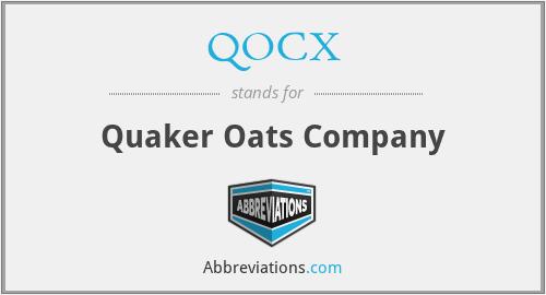 QOCX - Quaker Oats Company
