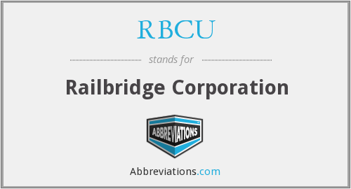 What does RBCU stand for?