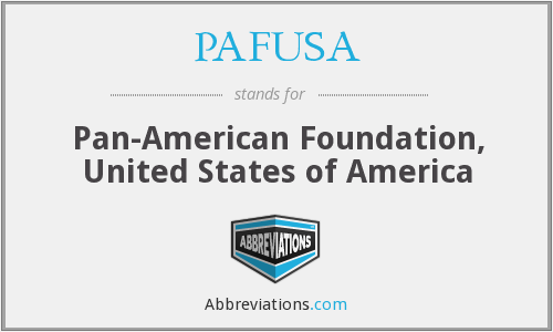 PAFUSA - Pan-American Foundation, United States of America