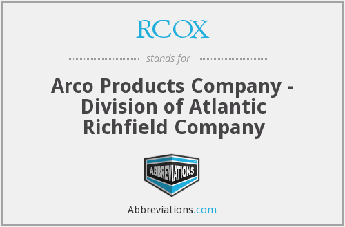 What does RCOX stand for?