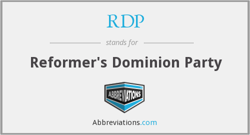 RDP - Reformer's Dominion Party
