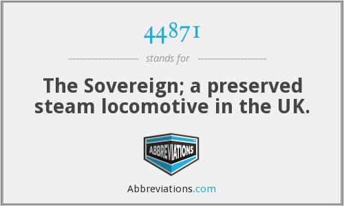 44871 - The Sovereign; a preserved steam locomotive in the UK.