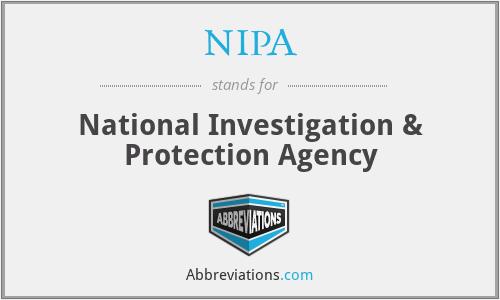 NIPA - National Investigation & Protection Agency
