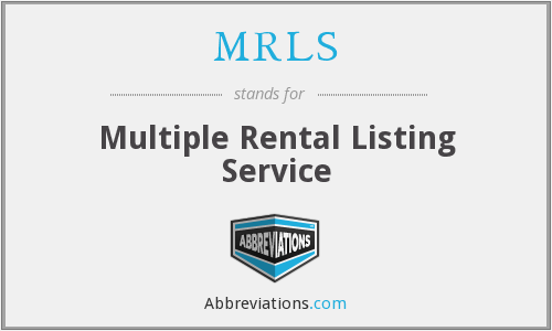 MRLS - Multiple Rental Listing Service