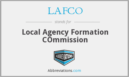 LAFCO - Local Agency Formation COmmission