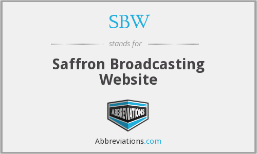 SBW - Saffron Broadcasting Website