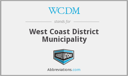 WCDM - West Coast District Municipality