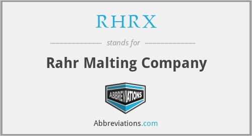 RHRX - Rahr Malting Company