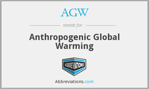AGW - Anthropogenic Global Warming