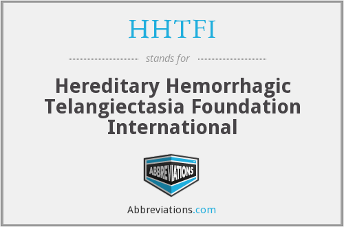 HHTFI - Hereditary Hemorrhagic Telangiectasia Foundation International