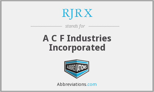 What does RJRX stand for?