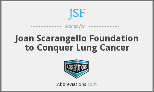 JSF - Joan Scarangello Foundation to Conquer Lung Cancer