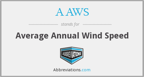 AAWS - Average Annual Wind Speed