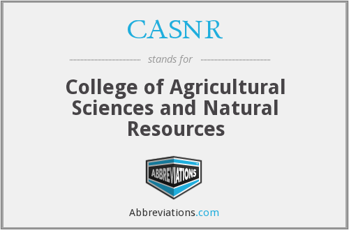 What does CASNR stand for?