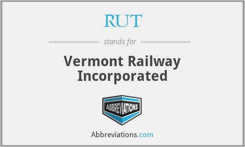 RUT - Vermont Railway Incorporated