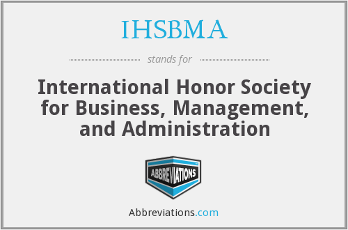 What does IHSBMA stand for?