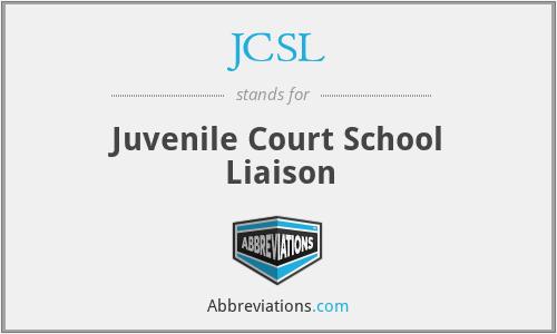 JCSL - Juvenile Court School Liaison