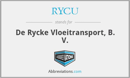 RYCU - De Rycke Vloeitransport, B. V.