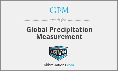 GPM - Global Precipitation Measurement