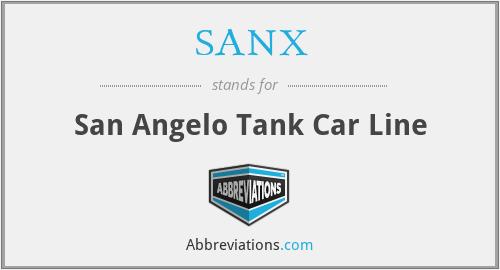 SANX - San Angelo Tank Car Line