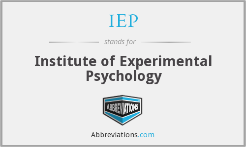IEP - Institute of Experimental Psychology