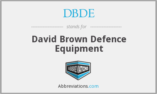 DBDE - David Brown Defence Equipment
