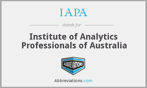 IAPA - Institute of Analytics Professionals of Australia