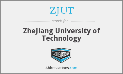 What does ZJUT stand for?