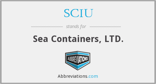 What does SCIU stand for?